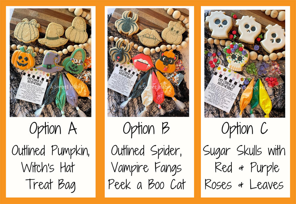 Halloween Cookie Kit Options