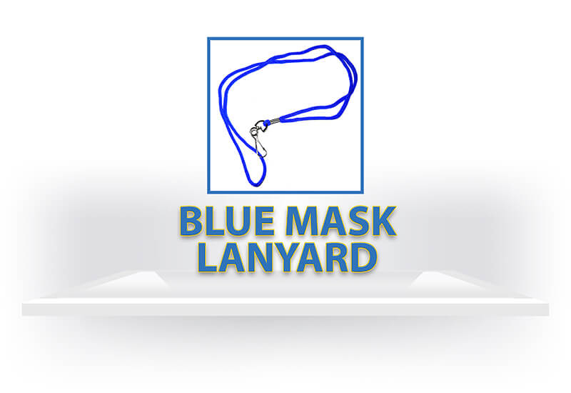 Blue Mask Lanyard