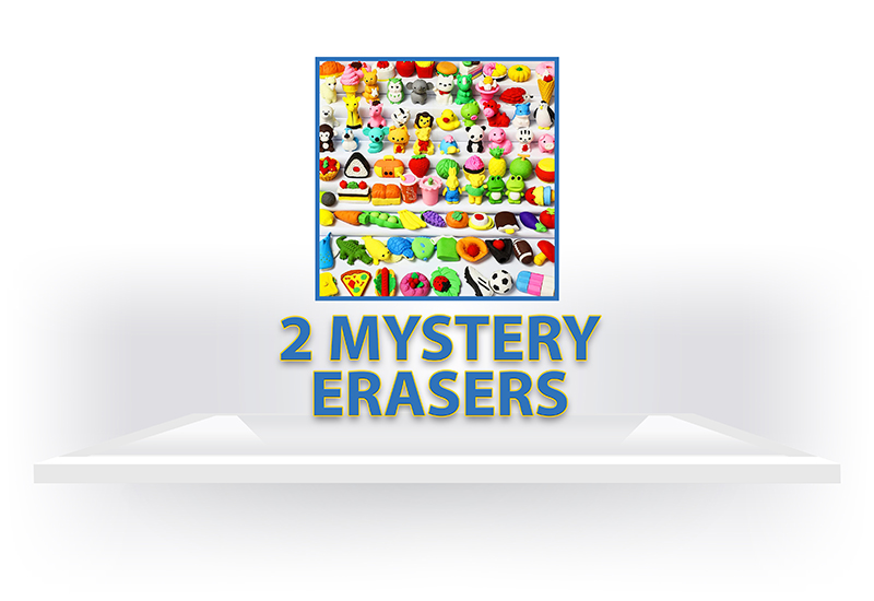2 Mystery Erasers