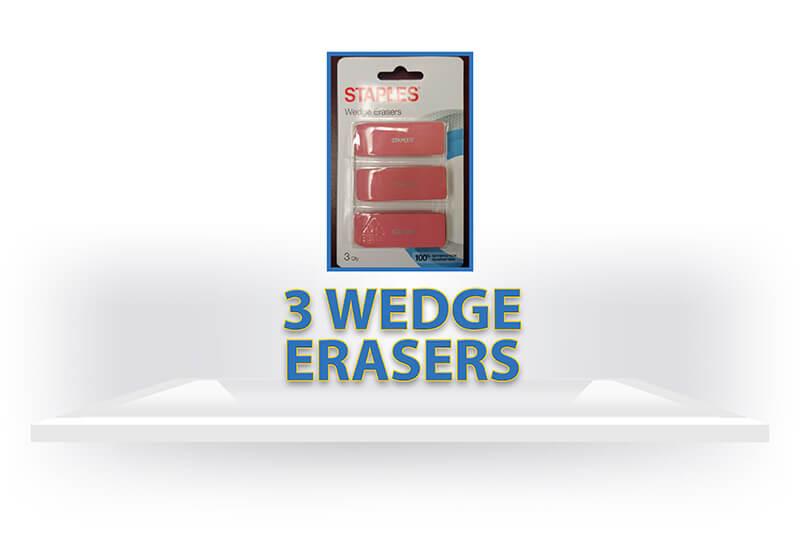 3 Wedge Erasers