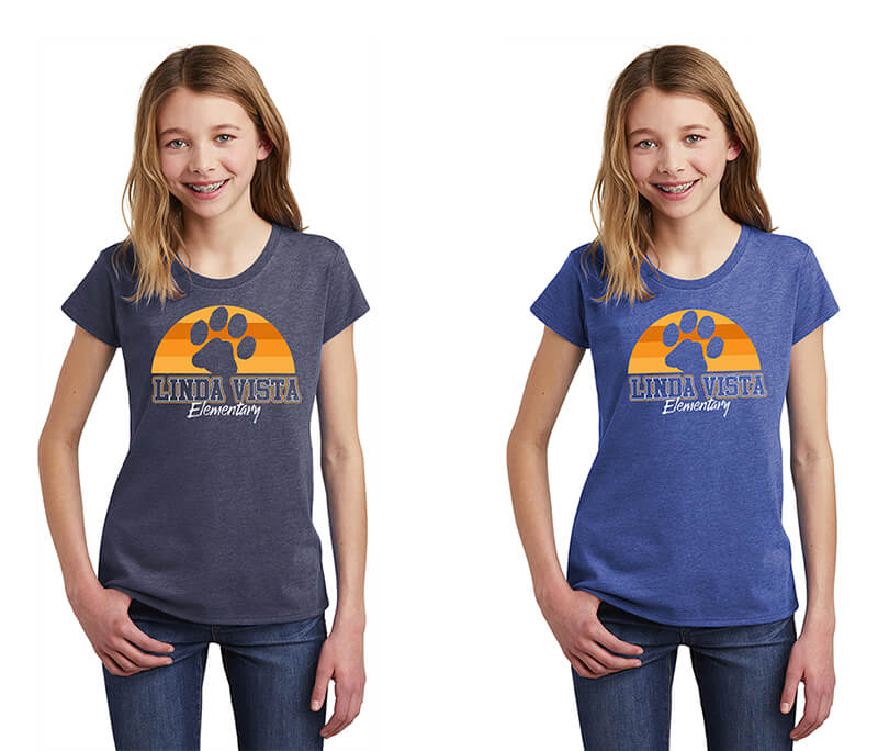 Linda Vista Sun Print Girls Tee
